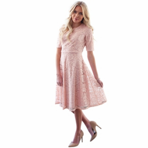 53f594a3fbd82 Mikarose Dresses | Blush Pink Lace Dress | Poshmark